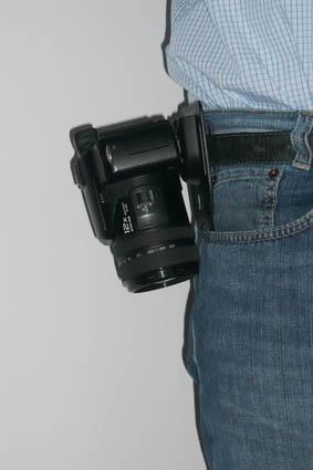 Belt clip for cameras