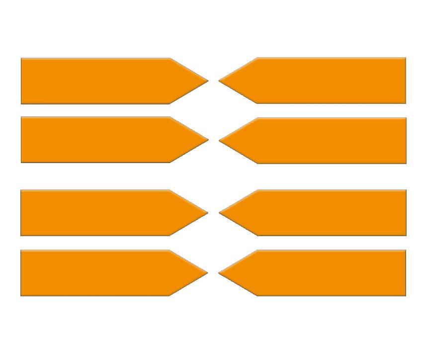 Magnetic arrows 100 mm, orange