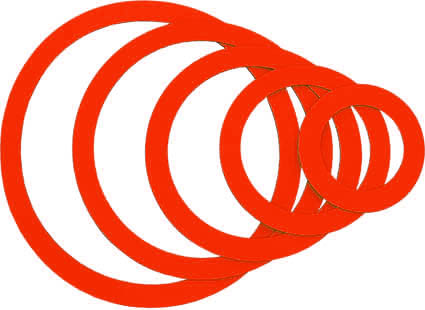 Magnetic rings, red