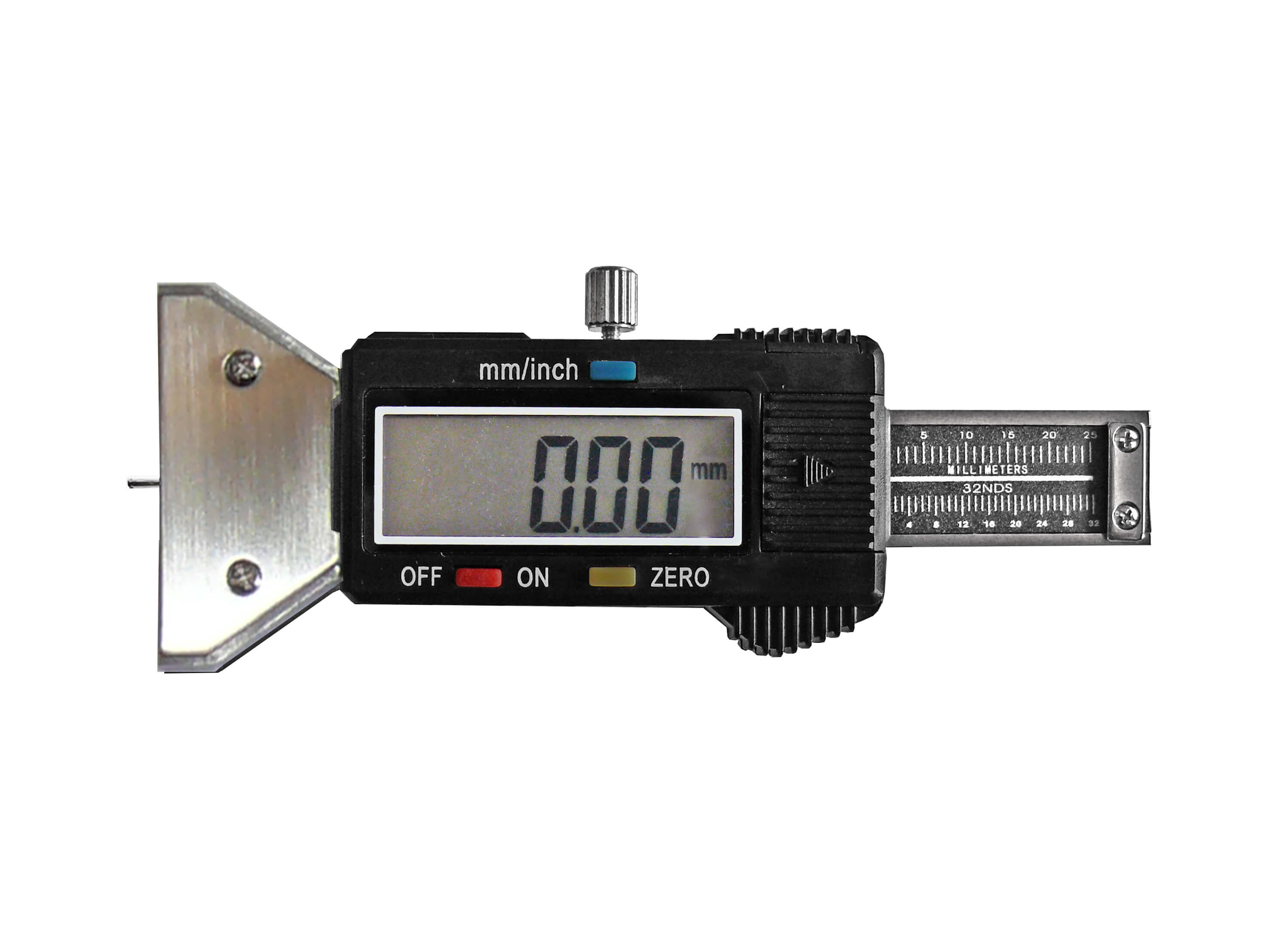 Digital tyre tread gauge,  carbon steel, with fixation screw