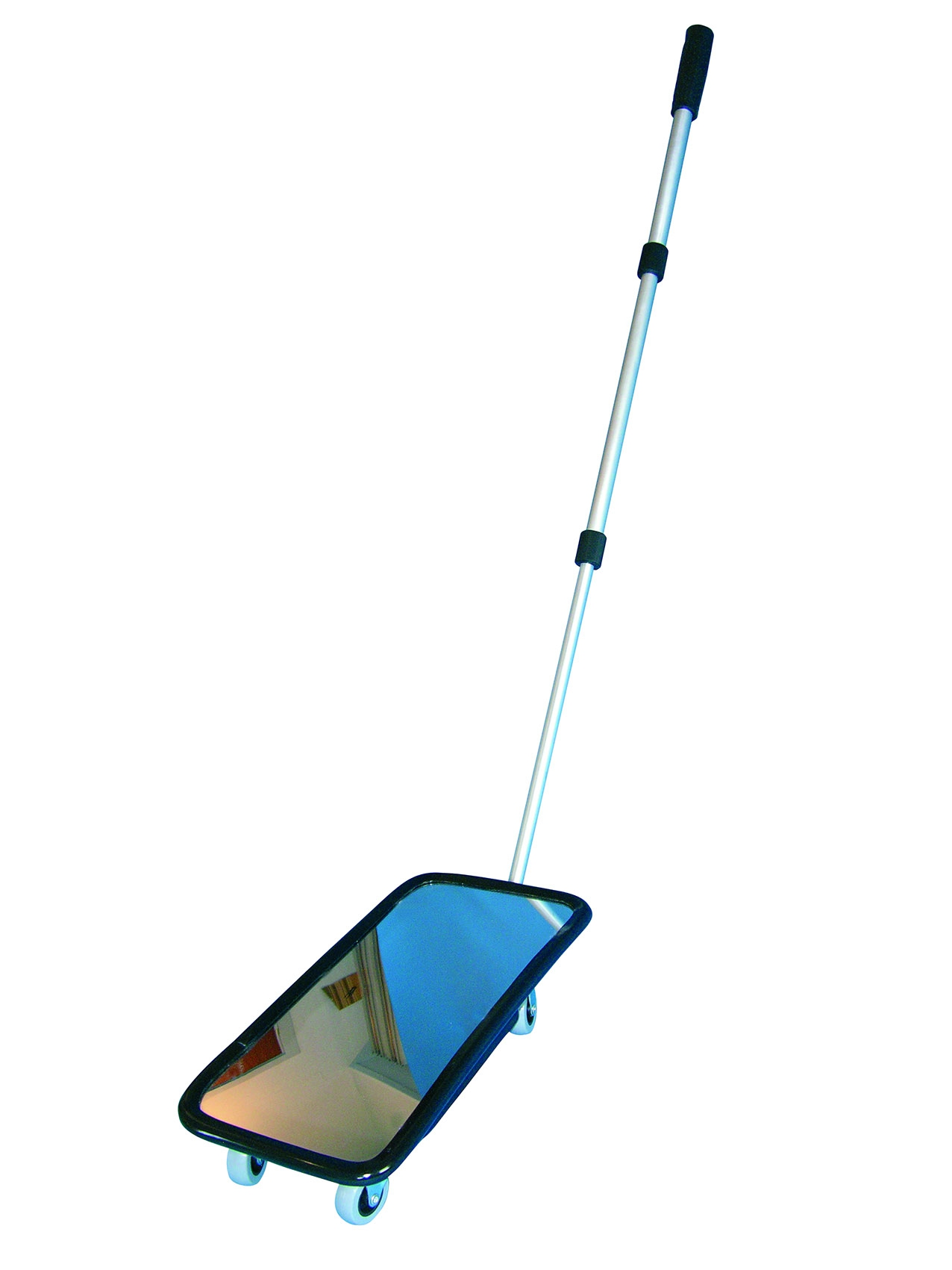 Inspection mirror 20 × 40 cm, with wheels