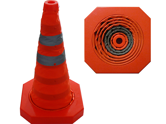 Traffic cone, collapsible, 44 cm