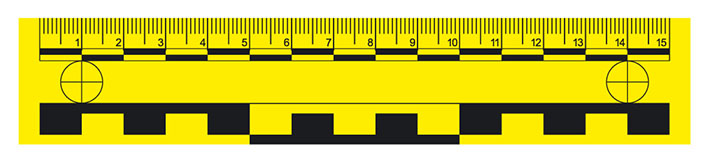 Magnetic ruler, 15 cm, yellow
