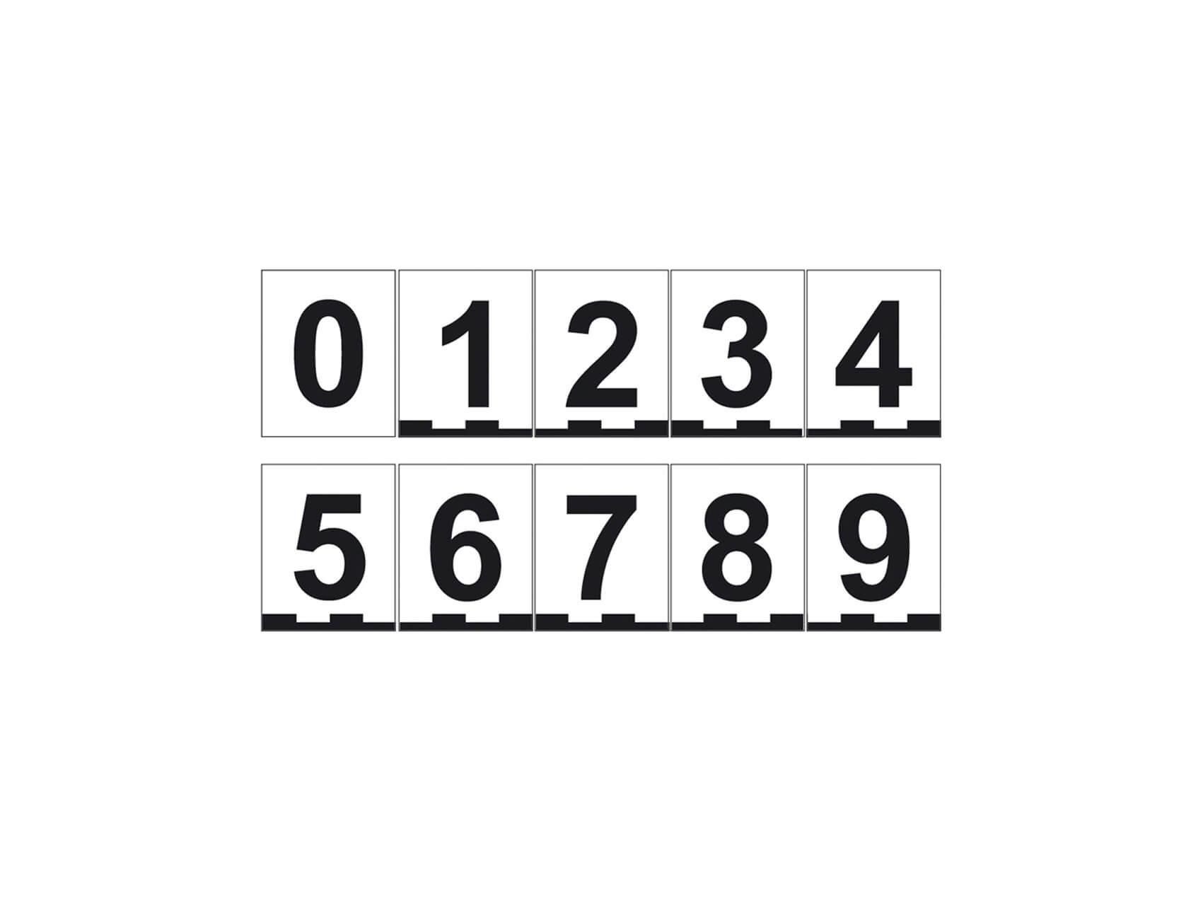 Magnetic numbers set, 4 × 5 cm, Numbers 0–9