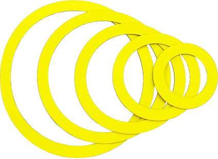 Magnetic rings, yellow