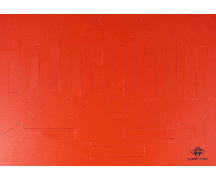 Magnetic arrows, 75 mm, red