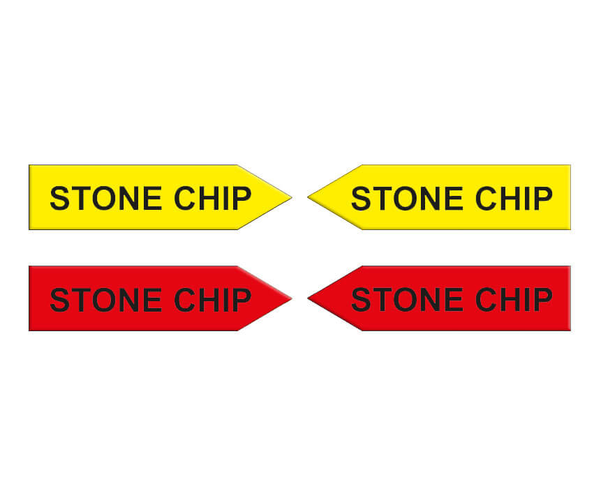 Magnetic arrows, 100 mm, yellow/red, 'STONE CHIP'
