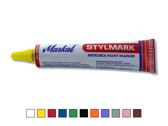 Stylmark – tube marker, yellow