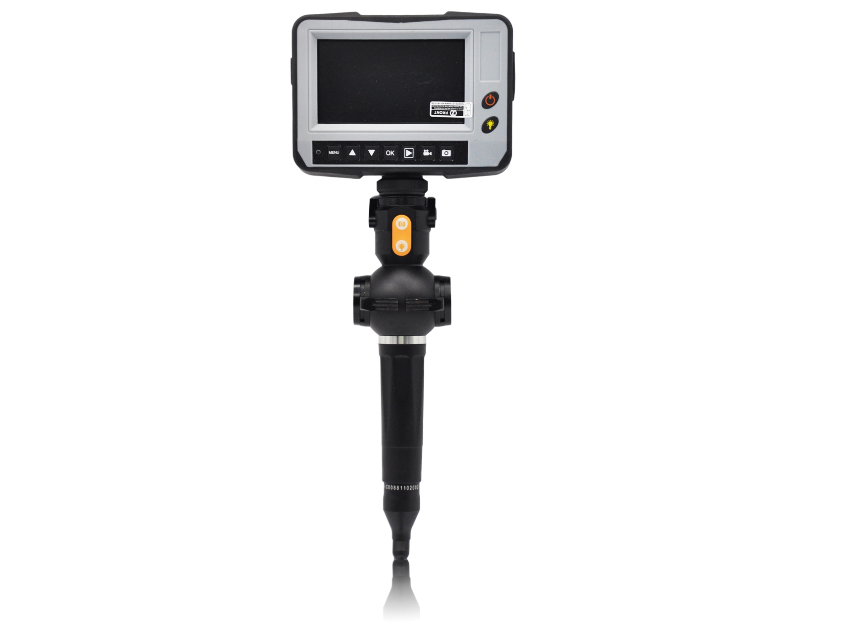 """4.3"""" Video endoscope, with flexible 4.0 mm ∅ camera probe and 360° articulating probe tip"""