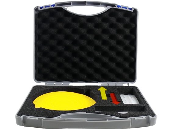 Transport and storage box for documentation aids - filled
