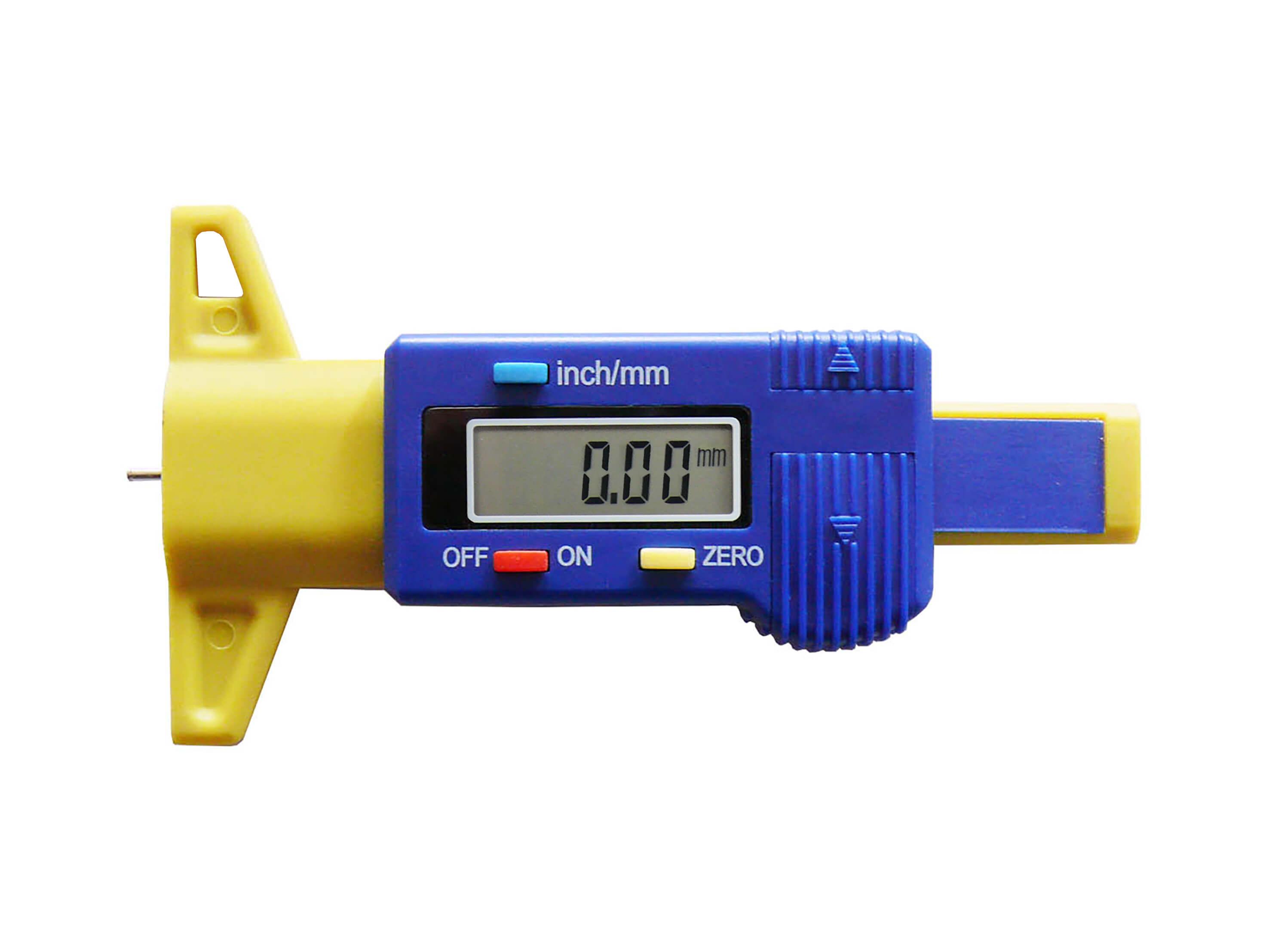 Digital tyre tread gauge (blue)