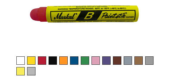 Paintstik B – solid paint marker, red
