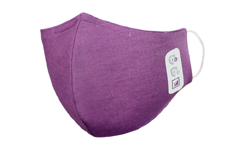 Face mask, 3-layered, purple