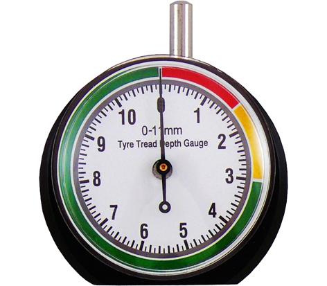 Tyre tread depths dial gauge