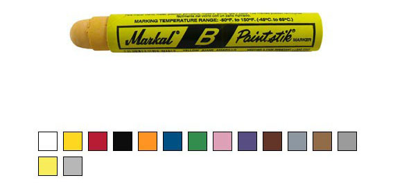 Paintstik B – solid paint marker, yellow