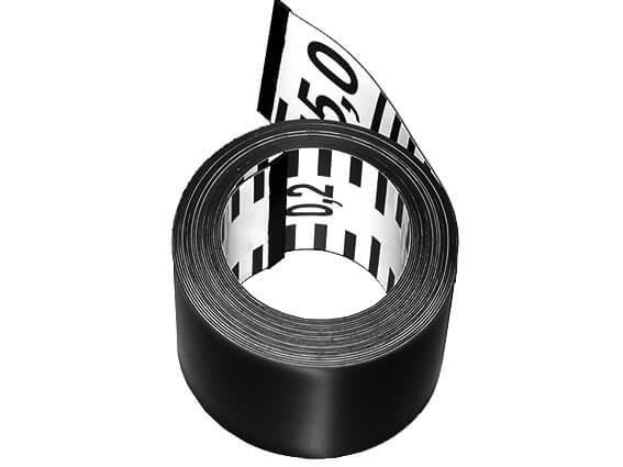 Flexible magnetic ruler tape, 5m × 5cm