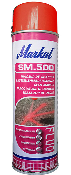 Marking spray, Markal - SM.500,  fluorescent pink