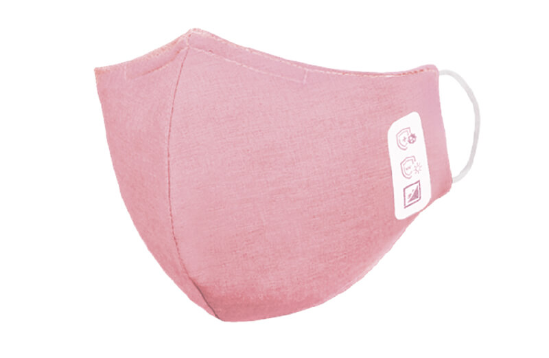 Face mask, 3-layered, pink