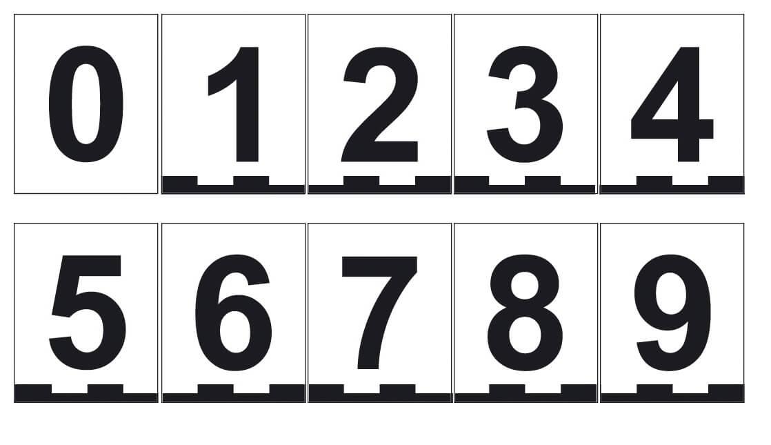 Magnetic numbers set, 8 × 10 cm, Numbers 0–9