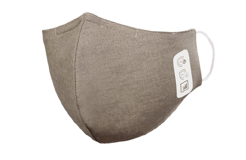 Face mask, 3-layered, beige-grey