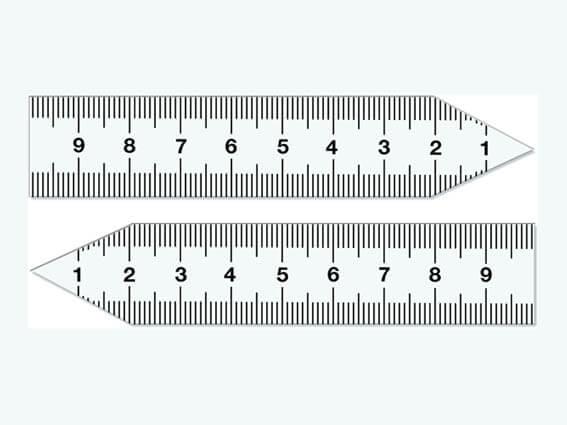 Magnetic pointer ruler set, small, 10 cm
