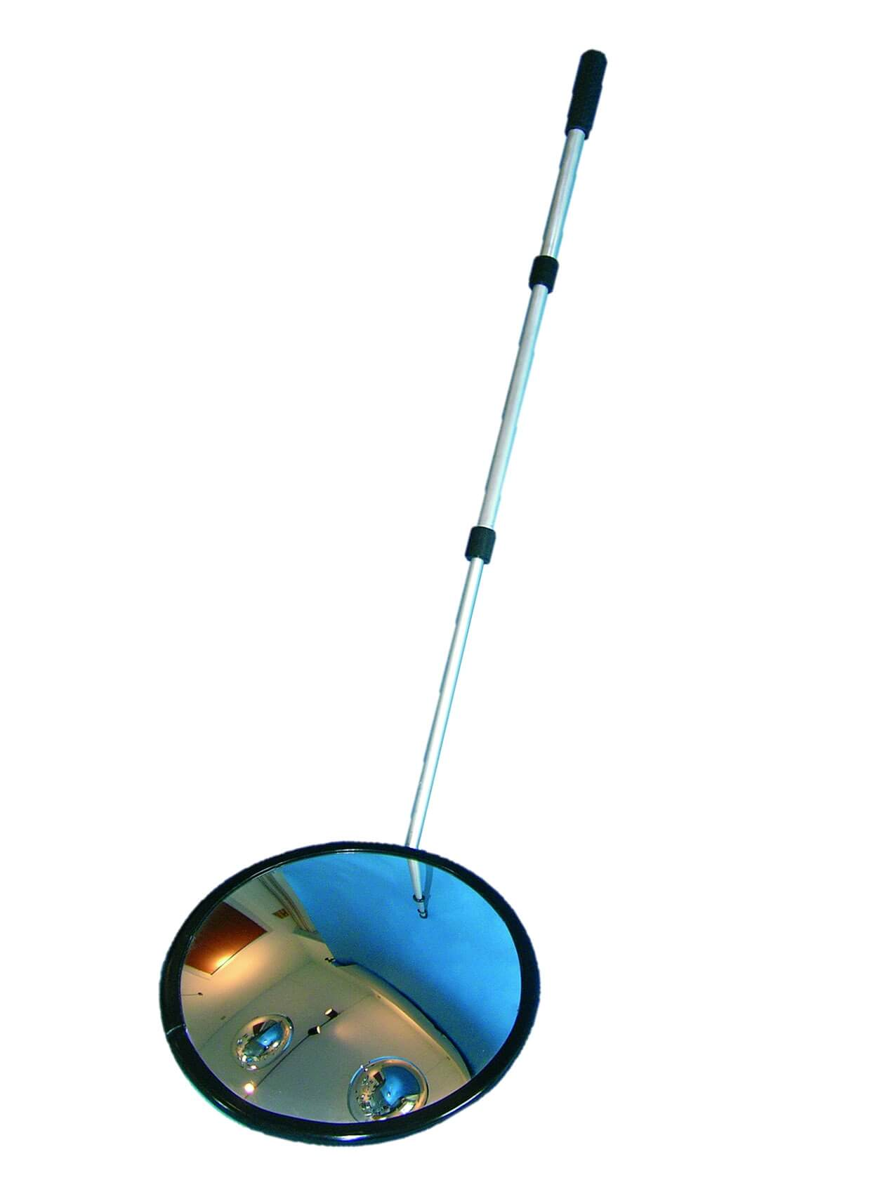 Inspection mirror 35 cm round, with wheels